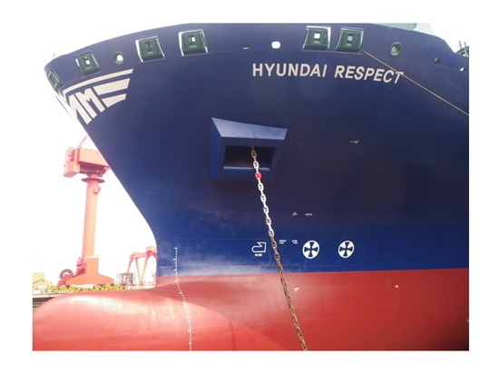 Hyundai Respect is one of seven Danaos-managed containerships recoated with Nippon Marine Paints antifouling this year.