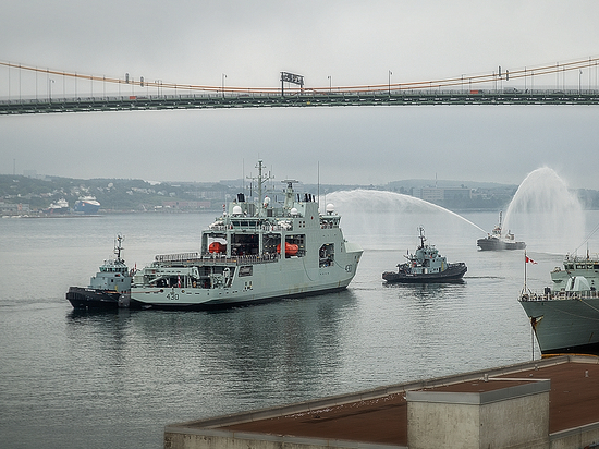 HALIFAX SHIPYARD DELIVERS HMCS HARRY DEWOLF, LEAD VESSEL IN CANADA'S NEW ARTIC AND OFFSHORE PATROL VESSEL CLASS.