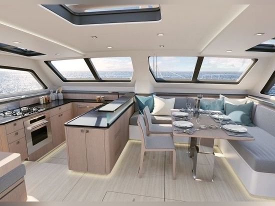 Stylish new and much lighter interior for the Signature 510 is by Darnet