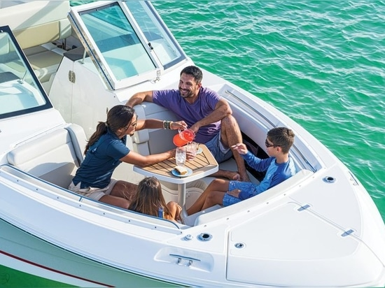 The bow is a great place for entertaining guests.