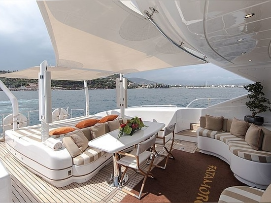 On board the high-speed 34m yacht Fatamorgana