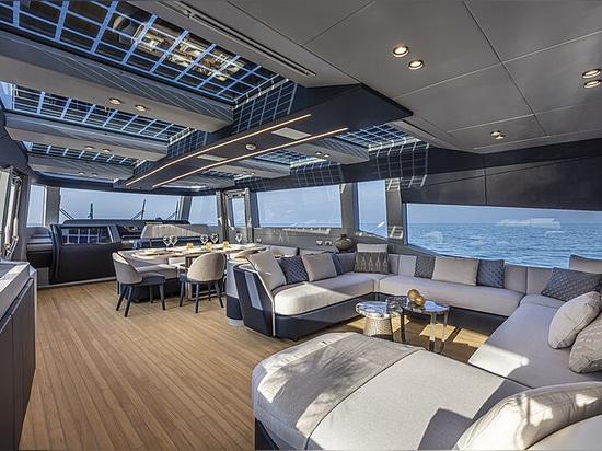 Inside the new Extra 86 Haze pocket superyacht