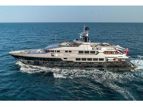 49m Christensen motor yacht Odessa on the market