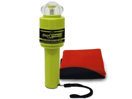 The ACR Electronics ResQFlare and signal flag package provides a safe alternative to pyrotechnic flares.