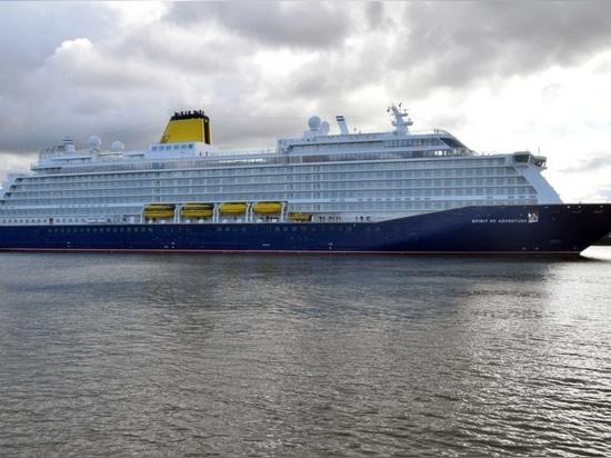 SAGA CRUISES NEWEST SHIP SPIRIT OF ADVENTURE ARRIVES AT TILBURY IN ESSEX