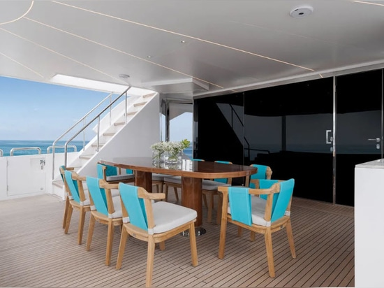 Inside the first FD92 Horizon yacht Crowned Eagle