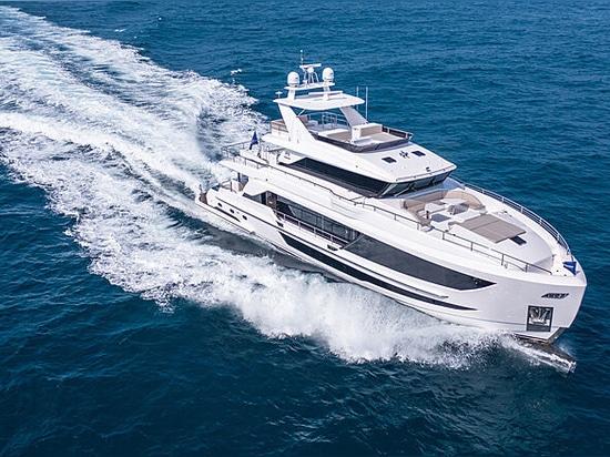 Second 29m Horizon FD92 superyacht launched