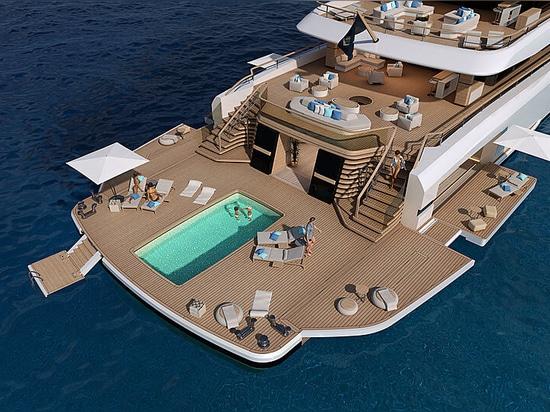 New Nauta yacht designs feature expandable beach club