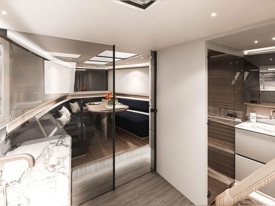 No need for structural bulkheads in the open plan cabin due to aluminium build