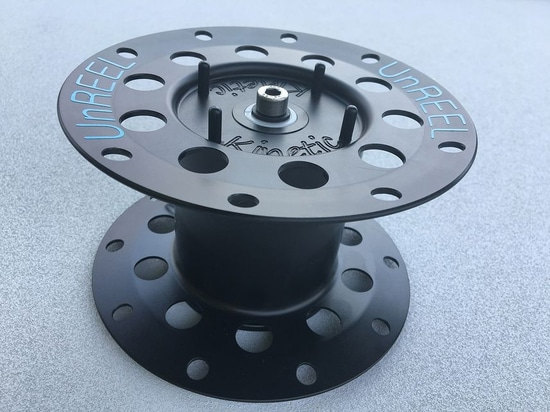 Marine Element's Kinetic uptake reel keeps line tails out of harm's way.