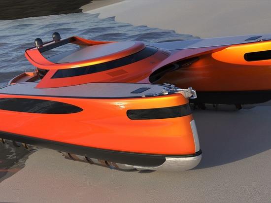 Video: Lazzarini's crab-inspired amphibious catamaran revealed