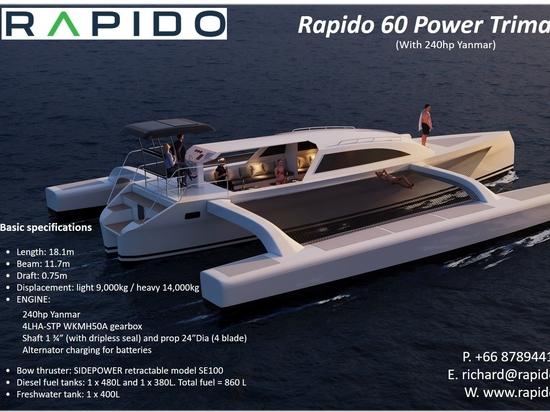 Rapido 60 Power Trimaran for sale