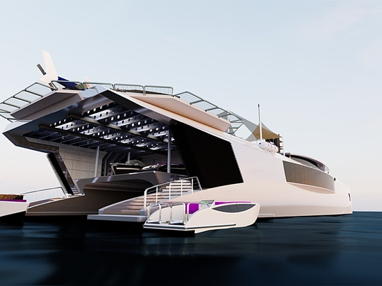 Hybrid series of new-generation 70m+ support yachts released by Nick Stark