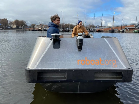 Self driving electric 'roboats' to begin trials on Amsterdam canals