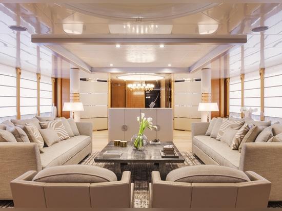 Main salon onboard Amore Mio 2
