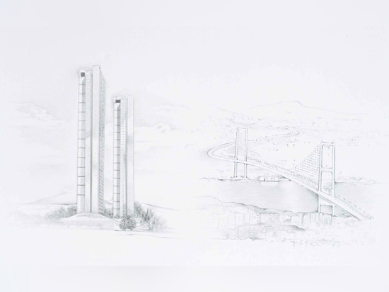 Exterior sketches of the Ciftci Towers