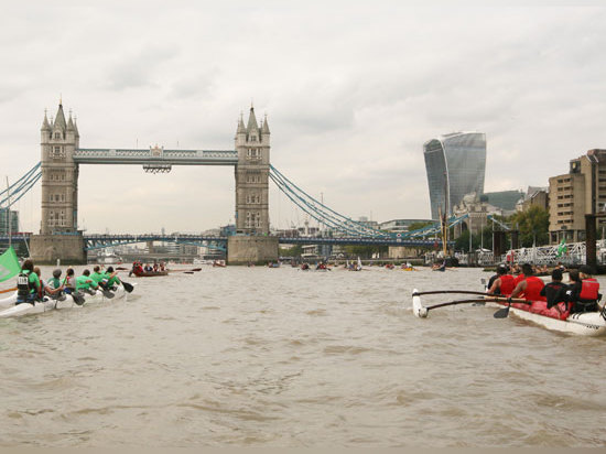Dutch Marines challenge Royal Marines in the Thames Great River Race