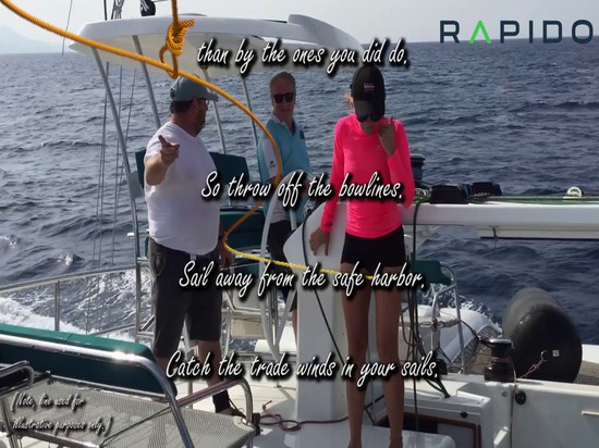 Throw off the bow lines and sail away in a Rapido Trimaran!
