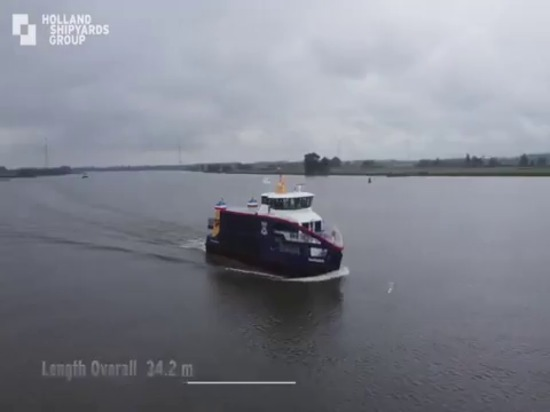 VIDEO: Holland Shipyards Group delivers hybrid ferry