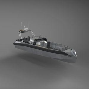 捜索救助船業務用ボート / インボードウォータージェット / ディーゼル式 / 自動復元