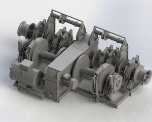漁船用ウィンチ / トロール網 / 油圧モーター / 巻き上げ装置付き