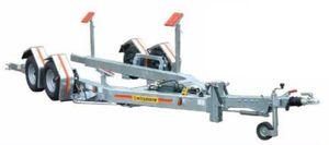 ルートトレーラー / ボート用 / 油圧 / スラストパッド式