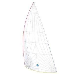 非対称スピンネーカー / ジェネカー / クルージングヨット用 / トリラジアルカット