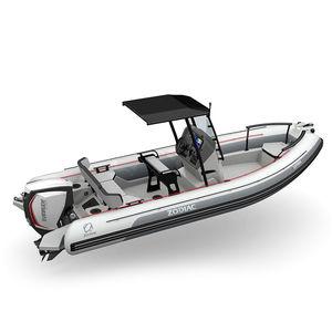 船外インフレータブルボート / 半硬式 / オープン / セントラル コンソール