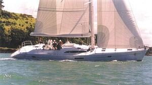 クルージング帆船 / ブリッジサロン / セントラル コックピット / キャビン3つ