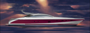 スポーツスーパーヨット / ハードトップ / 移動用船艇 / キャビン4つ