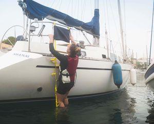 ボート用はしご / 折畳み / 調整可能 / 救急
