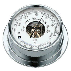 アナログバロメーター / 温度計 / 真ちゅう製 / クロム製