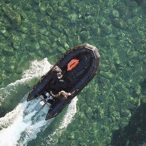 軍船業務用ボート / 船外機 / 可搬式 / 折り畳みインフレータブルボート