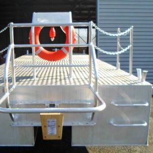 作業用平底船業務用ボート / 船内機 / アルミ製