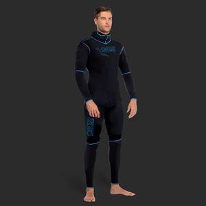 無呼吸用ウェットスーツ / 長袖 / 保護ずきん / 2 ピース
