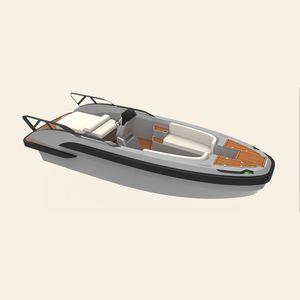 船内機インフレータブルボート / 半硬質 / セントラル コンソール / ヨット用付属品
