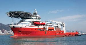 潜水用サポートオフショア支援船