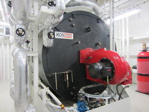 オイル加熱器 / 横型 / 重油 / 排気ガス