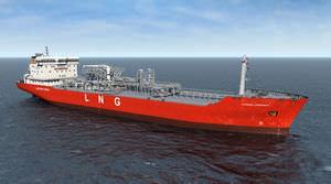 液化天然ガス輸送船貨物船 / ブタンガス タンカー