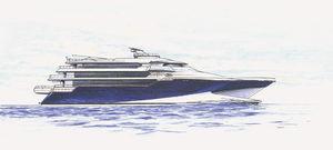 高速メガヨット / 高部操舵室 / 複合素材