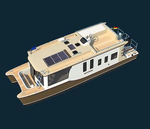 カタマランハウスボート / 船外 / フライブリッジ / トロール船
