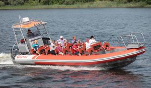 船外機インフレータブルボート / ツインエンジン式 / 半硬質 / セントラル コンソール