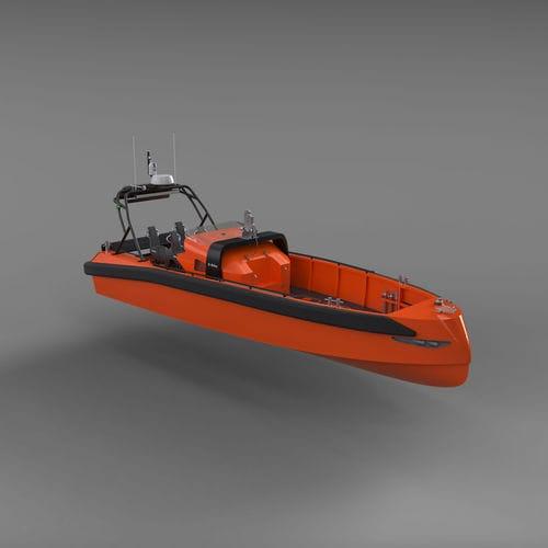 救助船業務用ボート / インボードウォータージェット / ディーゼル式 / 自動復元