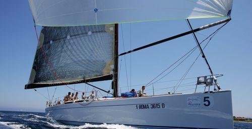 クルージング競技帆船 / キャビン4つ / バウスプリット / ツインステアリングホイール