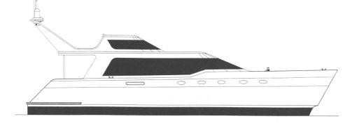 カタマランエクスプレスクルーザー / 船内 / ツインエンジン式 / フライブリッジ