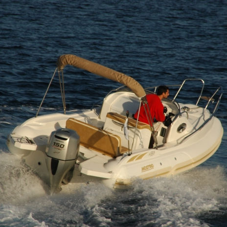 船外インフレータブルボート / 半硬式 / セントラル コンソール / スポーツ