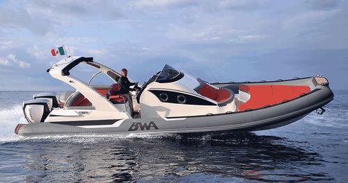 船内インフレータブルボート / ツインエンジン式 / 半硬式 / セントラル コンソール