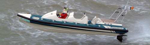 船外インフレータブルボート / 半硬式 / ジョッキーコンソール / 超常環境