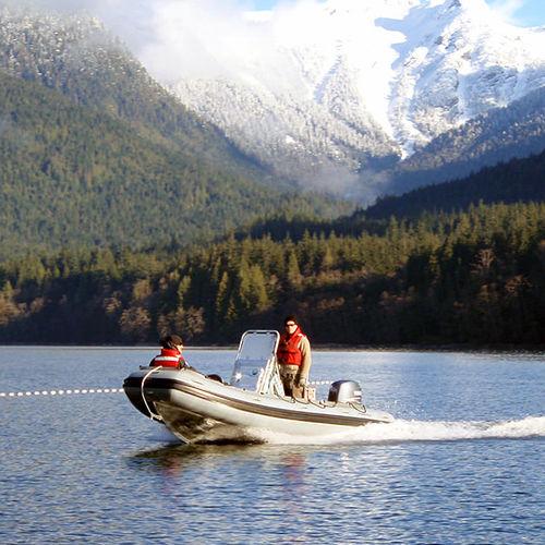 救助船業務用ボート / 船外 / アルミ製 / 複合艇