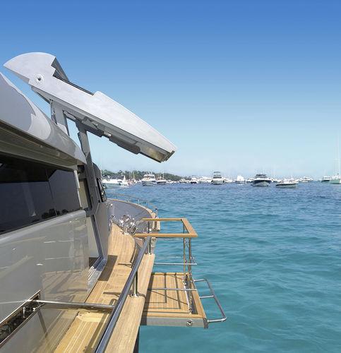 ヨット用ドア / パンタグラフ式 / ステンレススチール製
